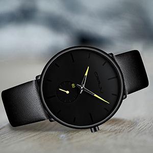 ae7d5c0c 18f4 4c8e bd61 7cf32a91c67b.  CR0,0,300,300 PT0 SX300 V1    - Mens Watches Ultra-Thin Minimalist Waterproof-Fashion Wrist Watch for Men Unisex Dress with Leather Band