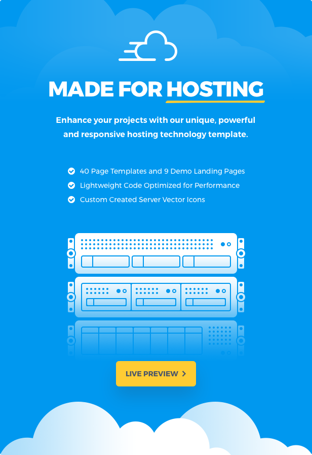banner features - Cloudhub - Hosting and Technology HTML Template