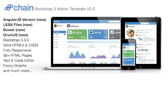 banner 01.  large preview - Chain Responsive Bootstrap 3 Admin Template