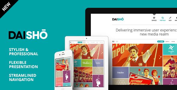 daisho preview 590 new.  large preview - Daisho - Flexible WordPress Portfolio Theme