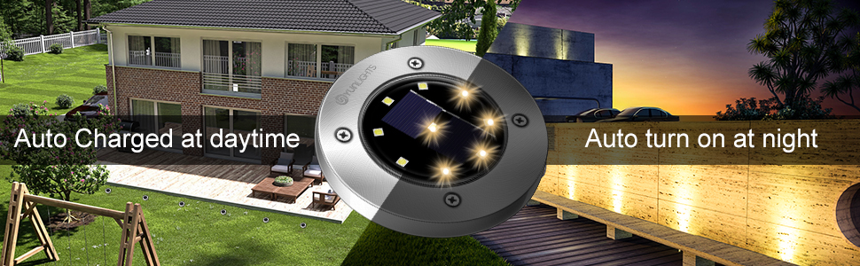 dde88b3e a18d 44d5 a24e 6ca19ad6daa8.  CR0,0,970,300 PT0 SX970 V1    - YUNLIGHTS 8PCS Solar Lights Outdoor, Solar Ground Lights with 9 LEDs, Disk Lights Garden Solar Lights Auto On/Off, IP65 Waterproof Yard Solar Lights for Lawn Pathway Yard Driveway Walkway Warm White