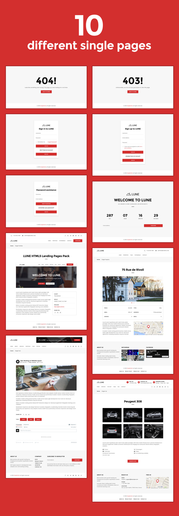 desc 003 - LUNE HTML5 Landing Pages Pack with Page Builder