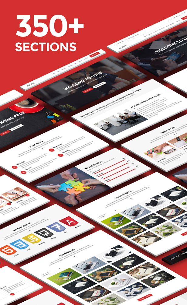 desc 005 - LUNE HTML5 Landing Pages Pack with Page Builder