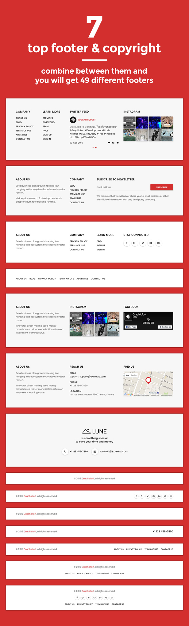 desc 007 - LUNE HTML5 Landing Pages Pack with Page Builder