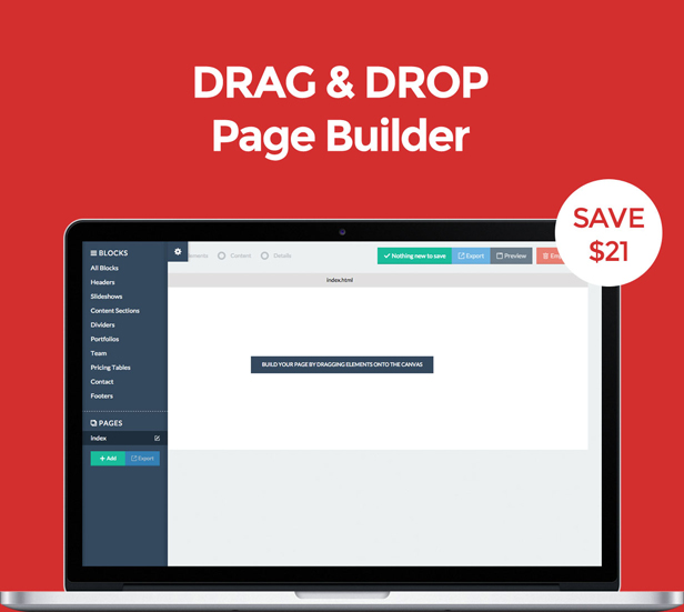 desc 011 - LUNE HTML5 Landing Pages Pack with Page Builder