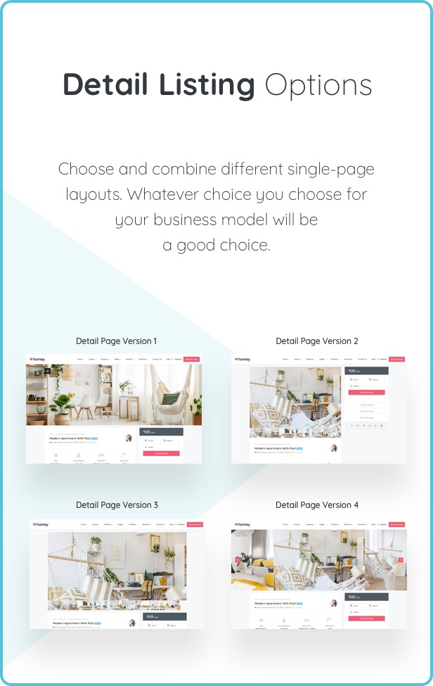 detail page - Homey - Booking and Rentals WordPress Theme
