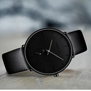fd45c71e ee5a 4ebc acdf cb8254a3407c.  CR0,0,300,300 PT0 SX300 V1    - Mens Watches Ultra-Thin Minimalist Waterproof-Fashion Wrist Watch for Men Unisex Dress with Leather Band