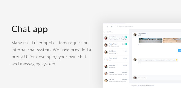 feature chat - TheAdmin - Responsive Bootstrap 4 Admin, Dashboard & WebApp Template
