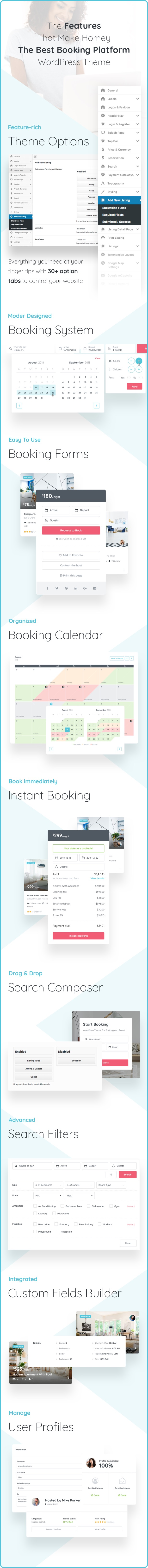 features - Homey - Booking and Rentals WordPress Theme