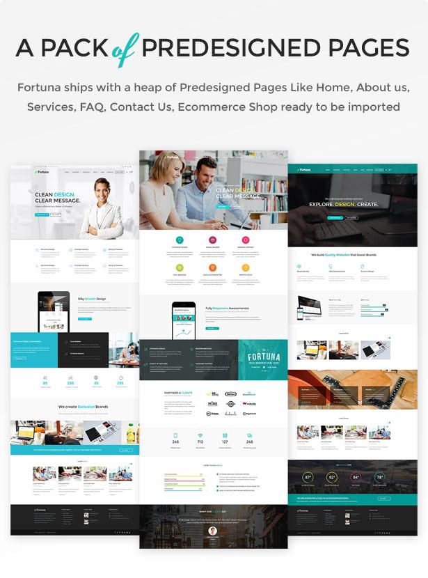 fortuna predesigned pages - Fortuna - Responsive Multi-Purpose WordPress Theme