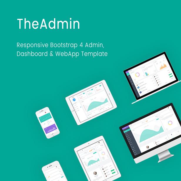 intro - TheAdmin - Responsive Bootstrap 4 Admin, Dashboard & WebApp Template