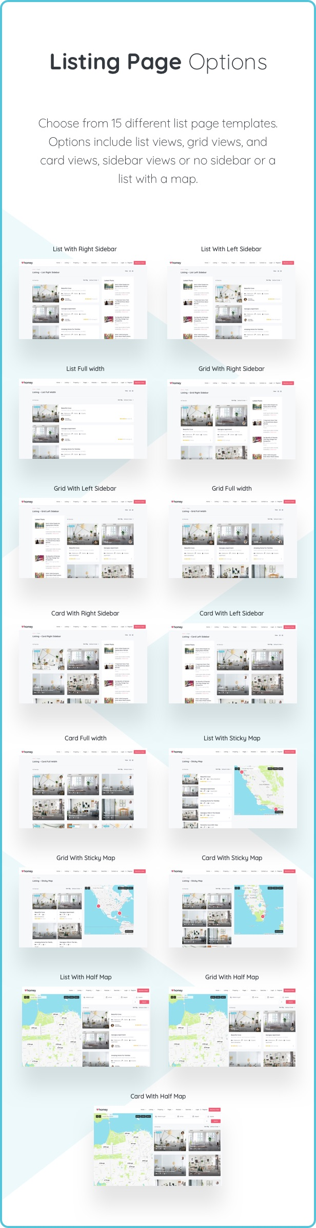 listing options - Homey - Booking and Rentals WordPress Theme