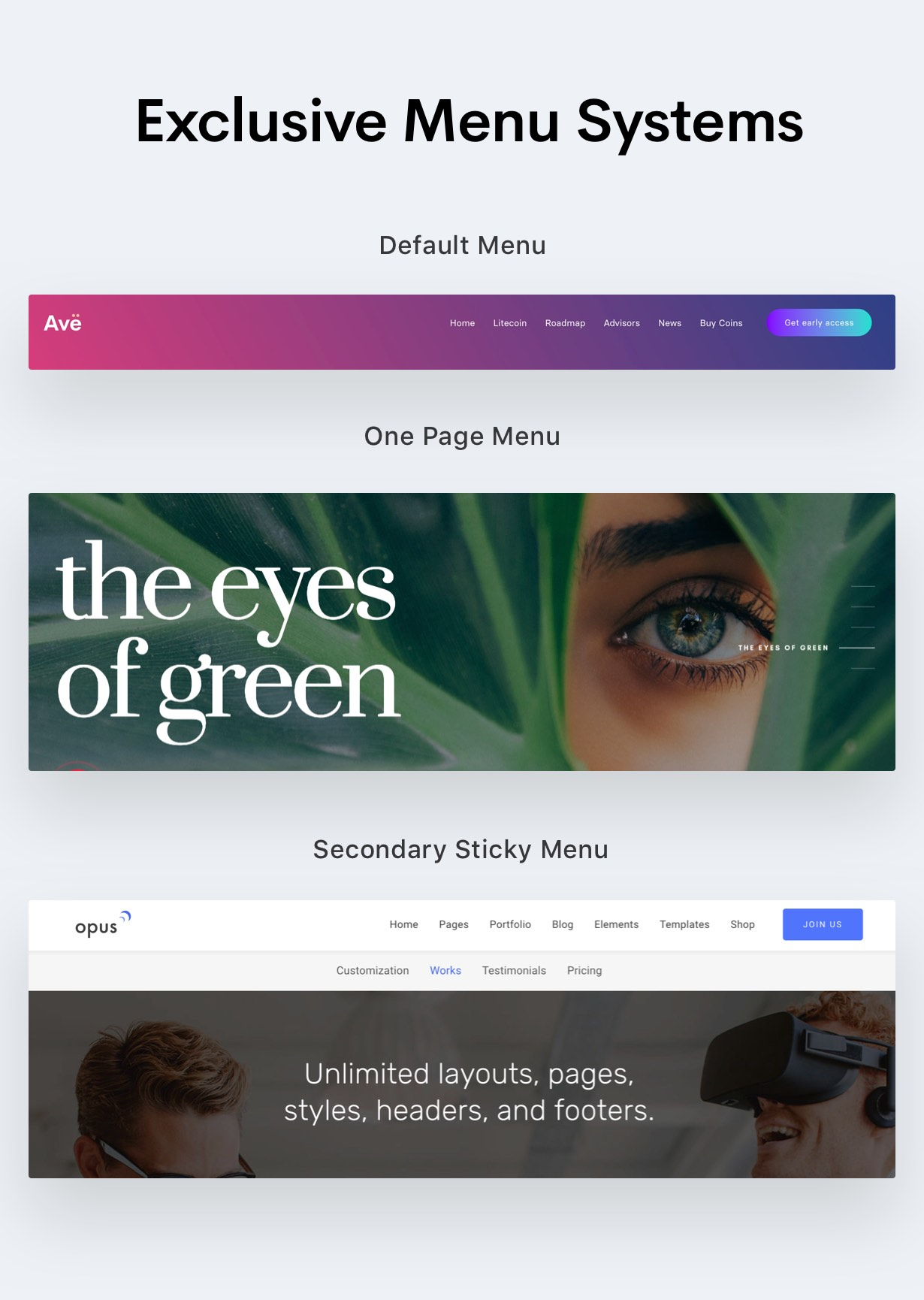 menu - Ave - HTML Responsive Multi Purpose Template
