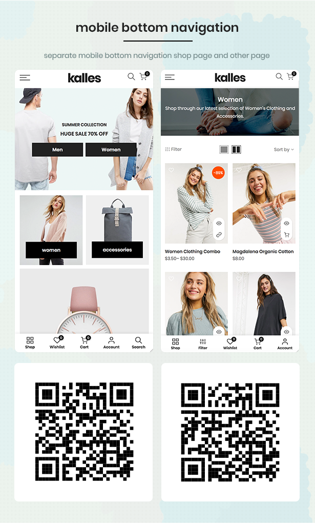 mobile bar - Kalles - Clean, Versatile, Responsive Shopify Theme - RTL support