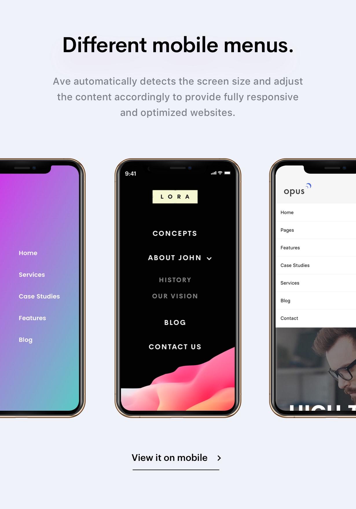 mobilemen - Ave - HTML Responsive Multi Purpose Template