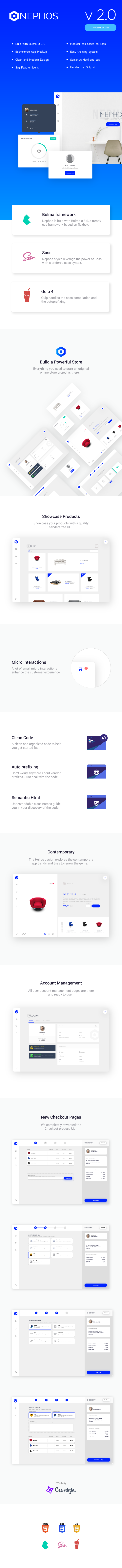 nephos infographics - Nephos - Modern Bulma Ecommerce Frontend