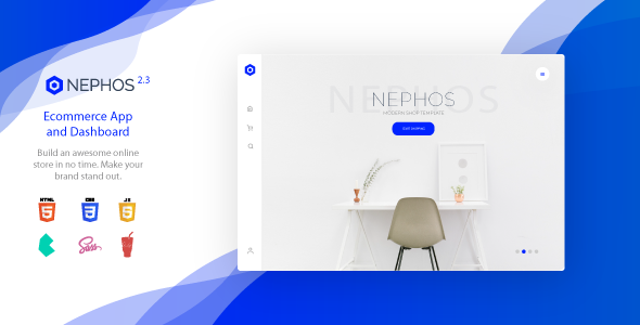 nephos preview.  large preview - Nephos - Modern Bulma Ecommerce Frontend