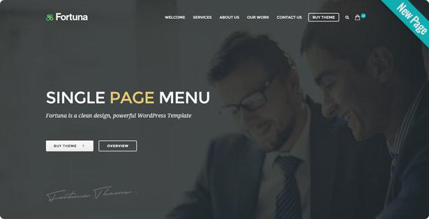 newSinglePageMenu - Fortuna - Responsive Multi-Purpose WordPress Theme
