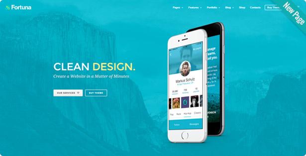 new mobile showcase - Fortuna - Responsive Multi-Purpose WordPress Theme