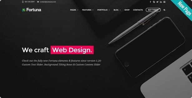 new red v12 - Fortuna - Responsive Multi-Purpose WordPress Theme