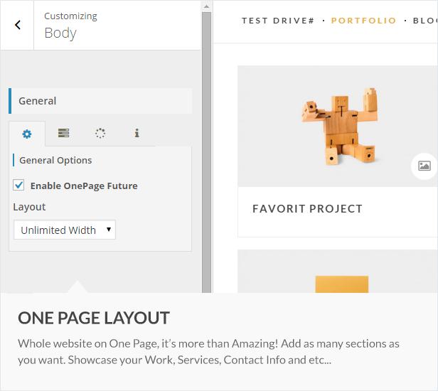 onepage - HyperX - Responsive Wordpress Portfolio Theme