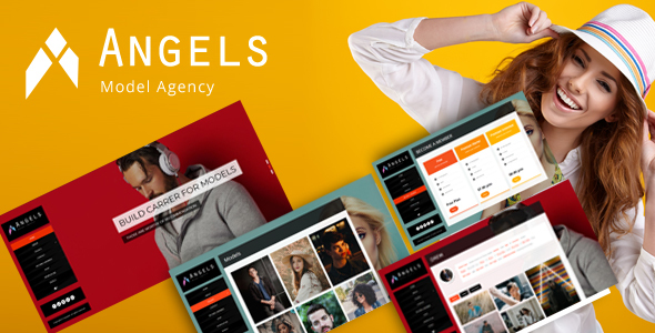 preview1 img.  large preview - Angel - Fashion Model Agency WordPress CMS Theme