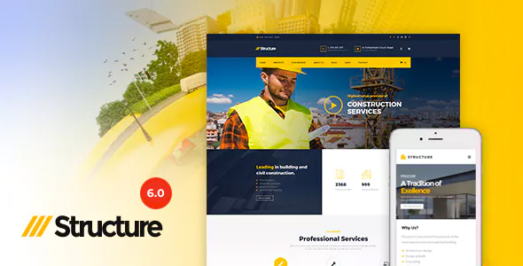 preview6.0.  large preview - Structure - Construction Industrial Factory WordPress Theme