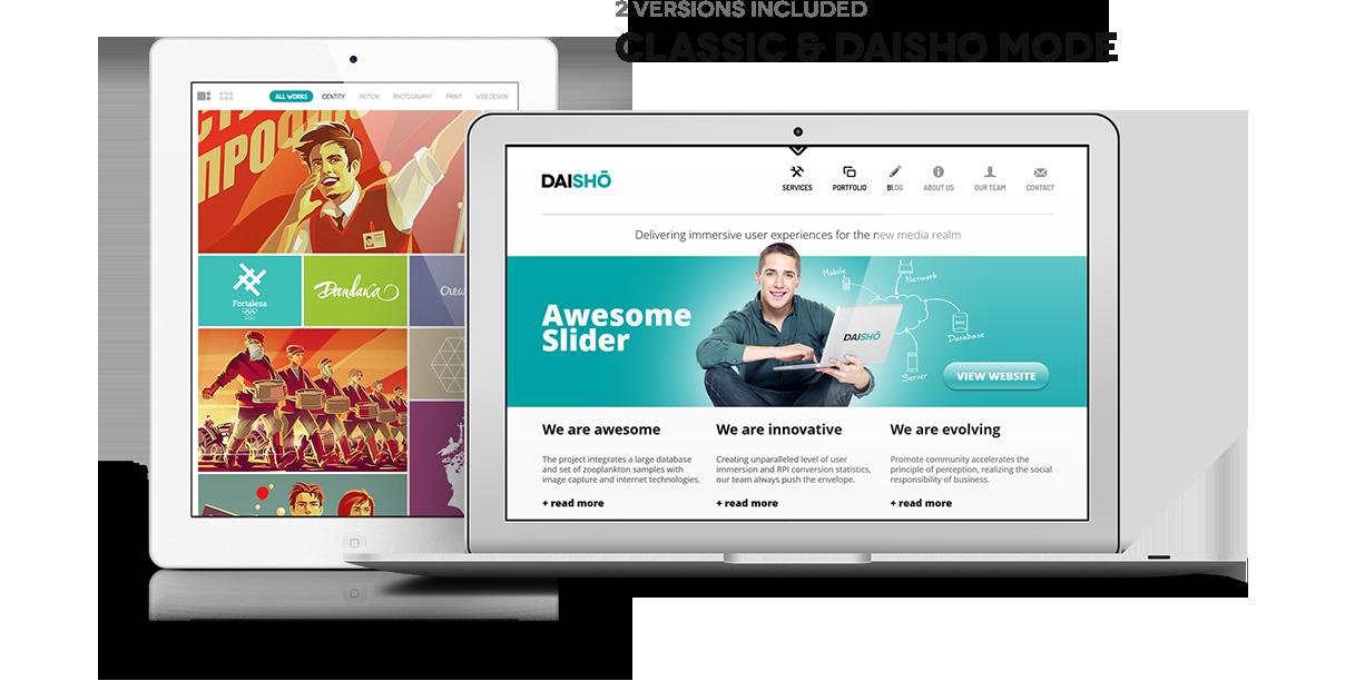 promo 1 - Daisho - Flexible WordPress Portfolio Theme