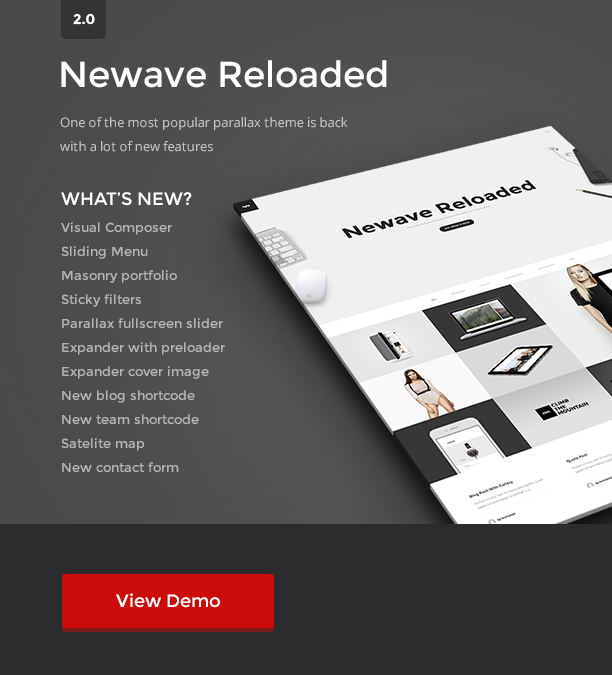 reloaded - Newave - WordPress Responsive One Page Parallax