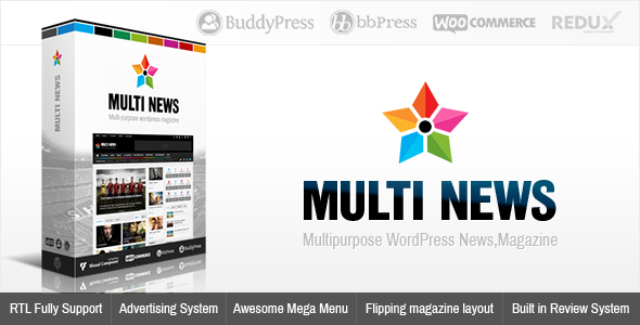 screenshot.  large preview - Multinews | Magazine WordPress Theme