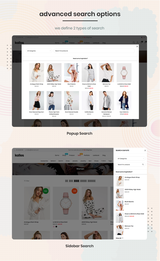search - Kalles - Clean, Versatile, Responsive Shopify Theme - RTL support