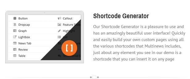 shortcode - Multinews   Magazine WordPress Theme