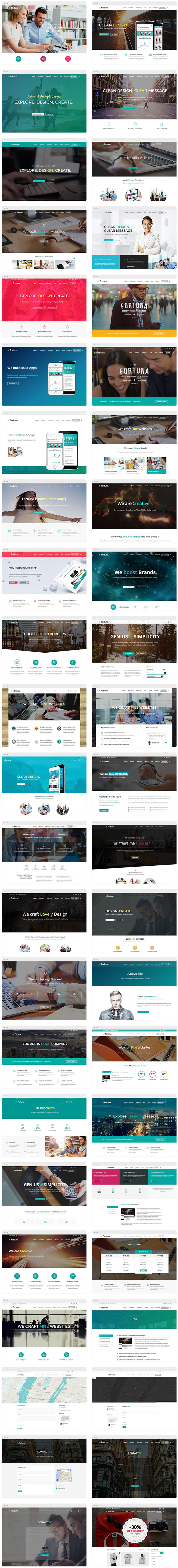 templates list - Fortuna - Responsive Multi-Purpose WordPress Theme