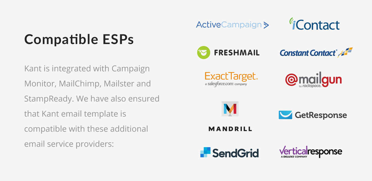 tf profile esps extra - Kant - Responsive Email for Startups: 50+ Sections + MailChimp + Mailster + Shopify Notifications