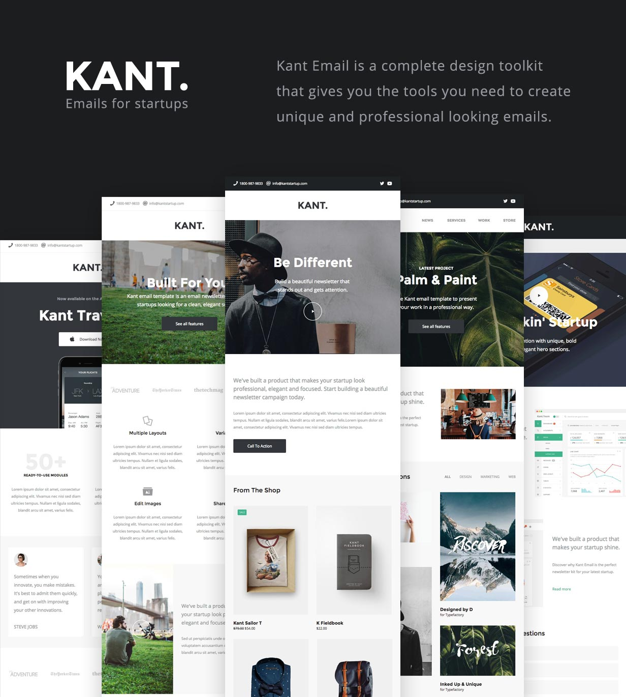 tf profile intro - Kant - Responsive Email for Startups: 50+ Sections + MailChimp + Mailster + Shopify Notifications