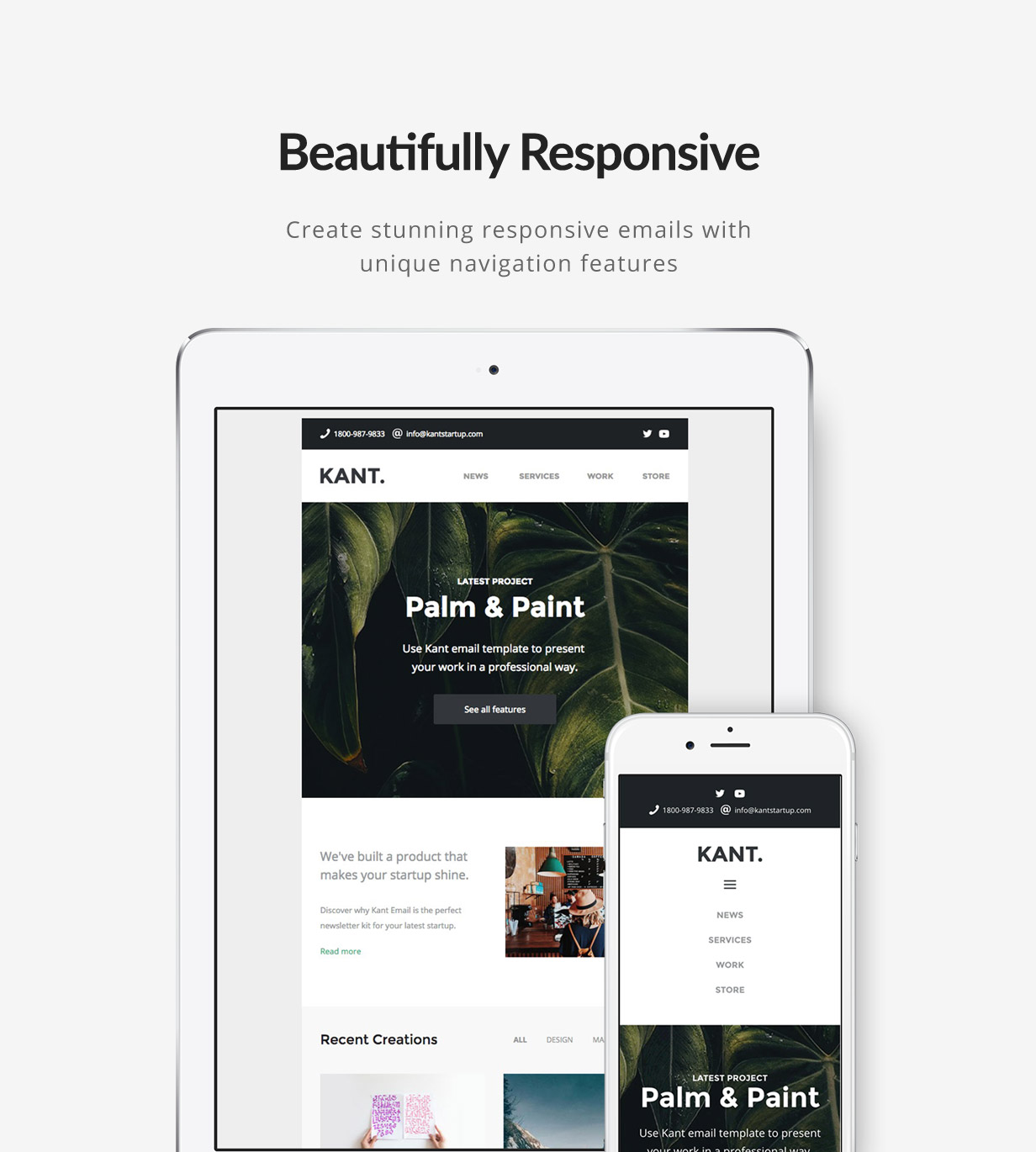 tf profile mobile - Kant - Responsive Email for Startups: 50+ Sections + MailChimp + Mailster + Shopify Notifications