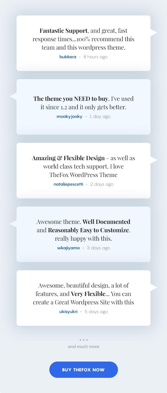 thefox wp testimonials - TheFox | Multi-Purpose PSD Template
