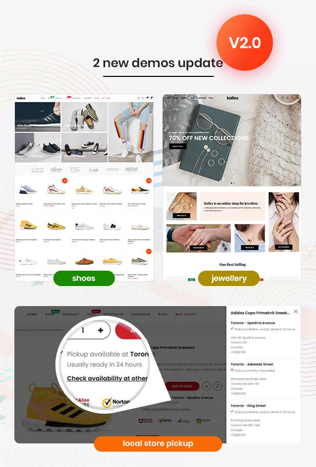 update v2.0 - Kalles - Clean, Versatile, Responsive Shopify Theme - RTL support
