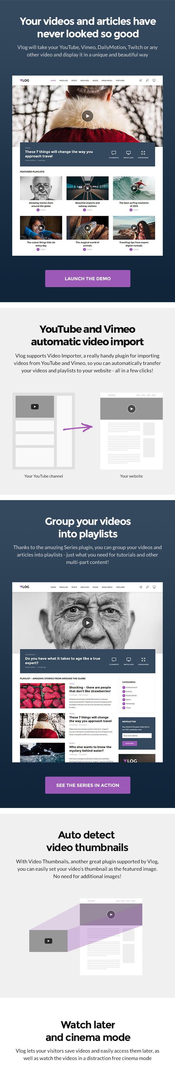 vlog features 01 v3 - Vlog - Video Blog & Podcast WordPress Theme