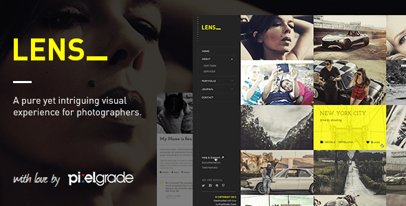 00 Teaser.  large preview - LENS - An Enjoyable Photography WordPress Theme