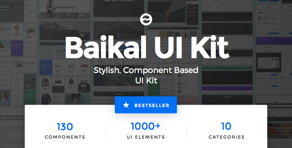 00 preview image 590x300.  large preview - Baikal UI Kit - Huge Set Of UI Components