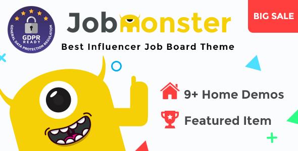 01 preview.  large preview - Jobmonster - Job Board WordPress Theme