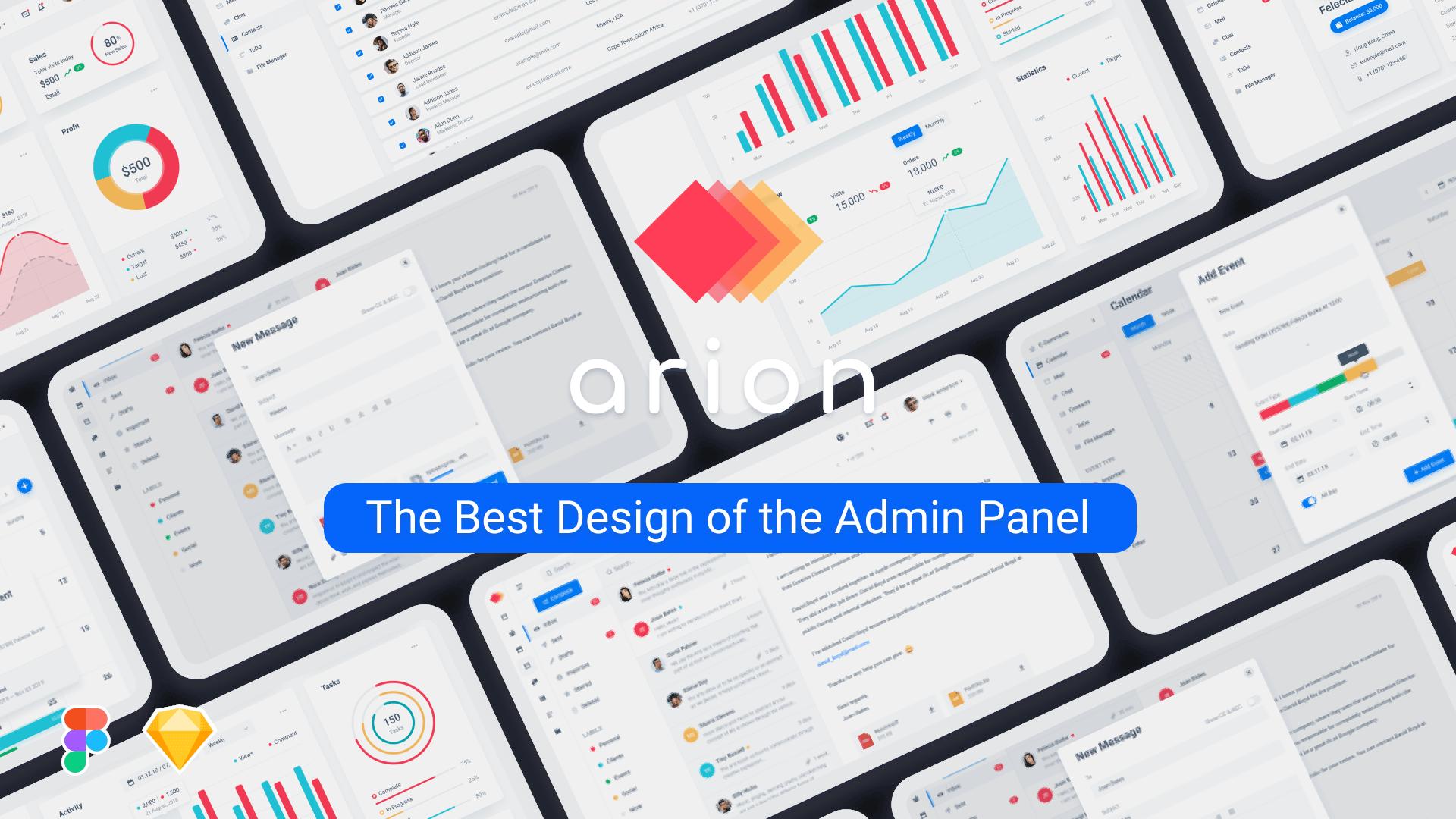 01 Presentation - Arion – Admin Dashboard & UI Kit Sketch Template