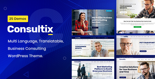 01 consultix.  large preview - Consultix - Business Consulting WordPress Theme
