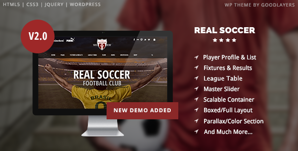01 intro.  large preview - Real Soccer - Sport Clubs WordPress