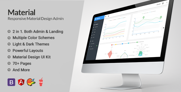 01 preview1.  large preview - Material Design AngularJS Admin Web App with Bootstrap 4