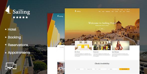 01 sailing.  large preview - Hotel WordPress Theme   Sailing