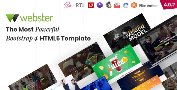 01 theme preview.  large preview - Webster - Responsive Multi-purpose HTML5 Template
