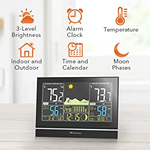 092e0a3a d844 46ce 9336 e5a21f327aa4.  CR0,0,500,500 PT0 SX300 V1    - Wittime Latest 2076 Weather Station, Wireless Indoor Outdoor Thermometer, High Precision Temperature and Humidity, Weather Forecast and Barometer, Calendar with Moon Phase, 7.5-inch HD Large Screen