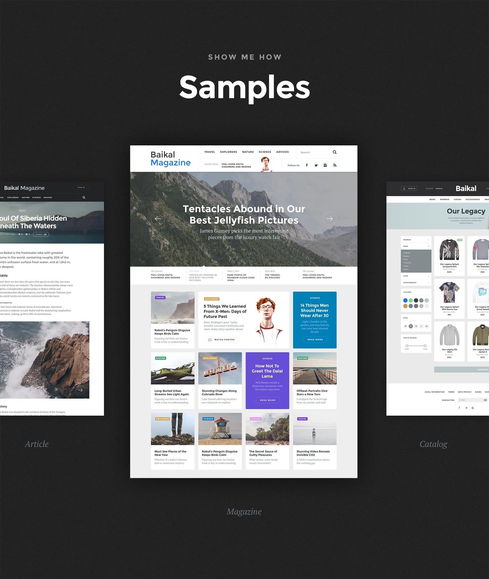 12 Samples - Baikal UI Kit - Huge Set Of UI Components
